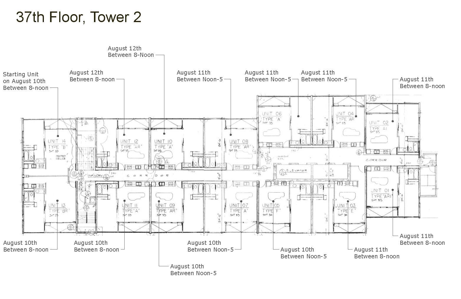 37th floor schedule